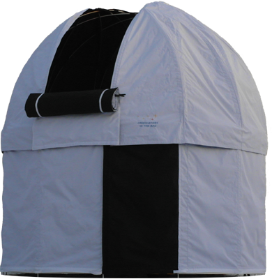 hobby observatory Schedir, home garden folding astronomical observatory with rotating dome made from weather resistant double-ply fabric and aluminium skeleton